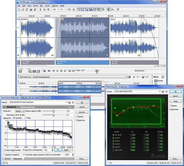 Pantallazo Sony Sound Forge Pro