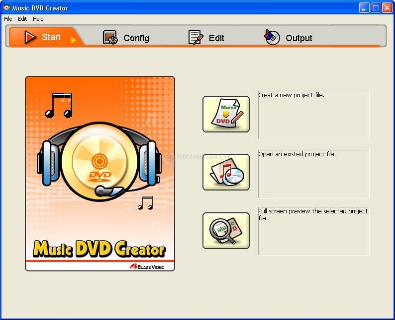 Pantallazo Music DVD Creator