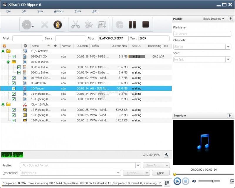 Pantallazo Xilisoft CD Ripper
