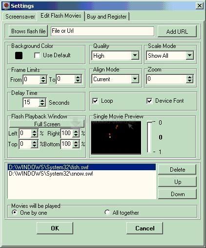Pantallazo ExeIcon Flash Screen Saver
