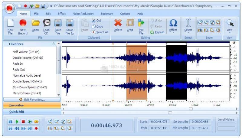 Pantallazo Audio Record Edit Toolbox