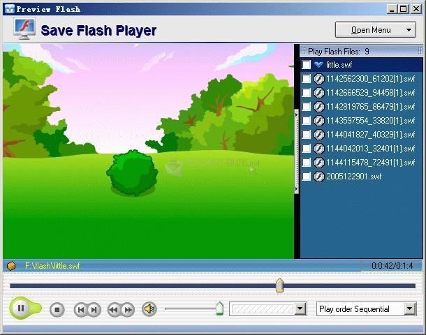 Pantallazo Save Flash Player