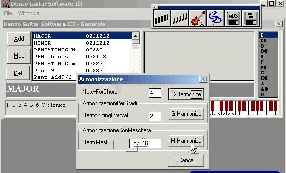 Pantallazo Denzo Guitar Software