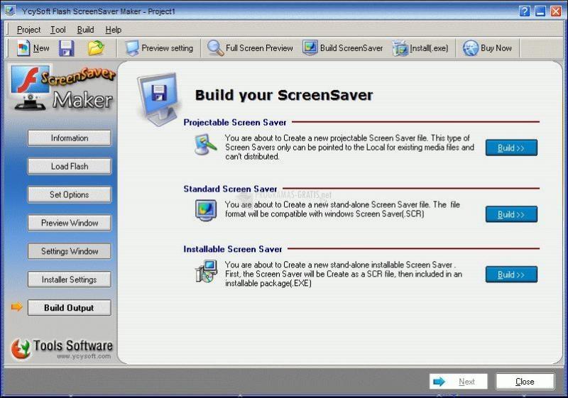 Pantallazo YcySoft Flash ScreenSaver Maker