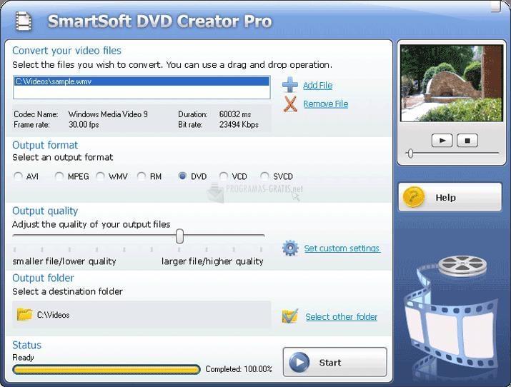 Pantallazo SmartSoft DVD Creator Pro
