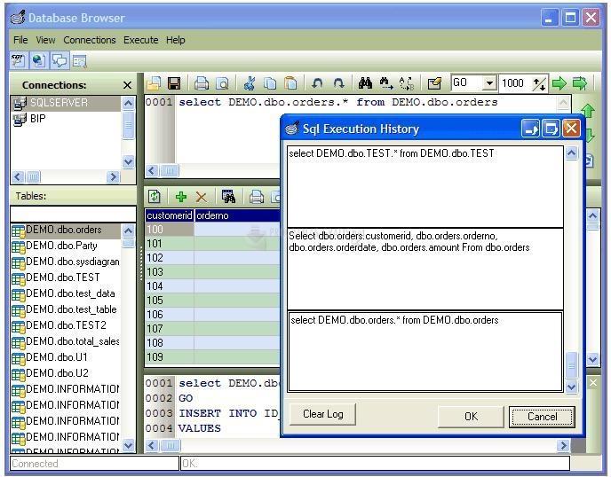 Pantallazo Database Browser
