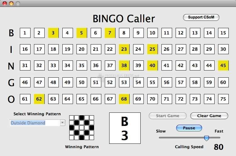 Pantallazo Bingo Caller