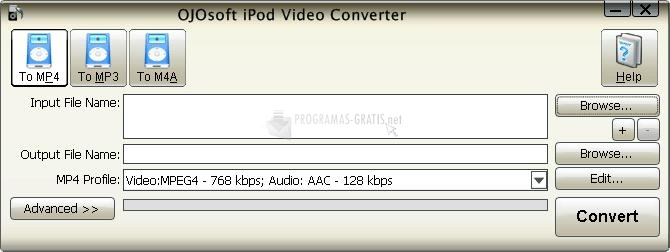 Pantallazo OJOsoft iPod Video Converter