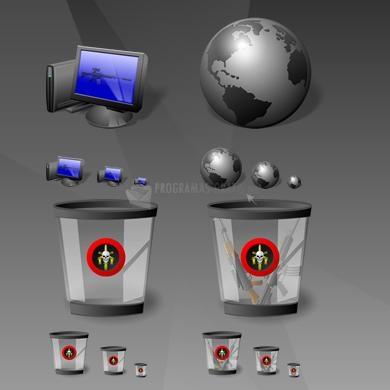 Pantallazo Elite Desktop Icon Pack
