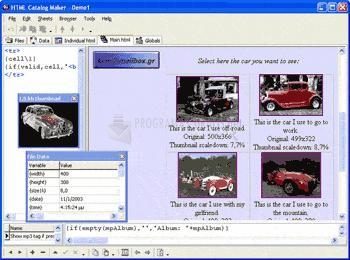 Pantallazo HTML Catalog Maker