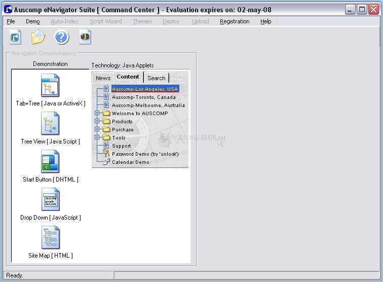 Pantallazo Auscomp eNavigator Suite