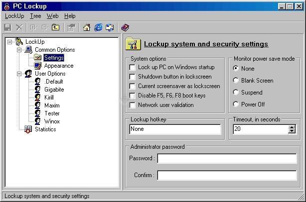 Pantallazo PC Lockup