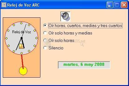 Pantallazo Reloj de Voz ARC