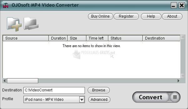 Pantallazo OJOsoft MP4 Converter