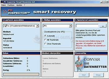 Pantallazo PC Inspector Smart Recovery