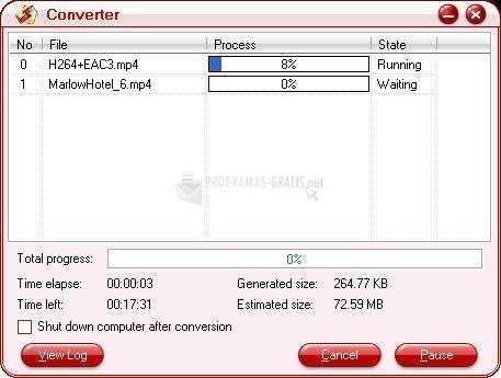 Pantalla Pavtube Video Converter
