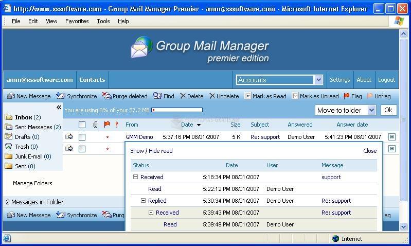 Pantallazo Group Mail Manager Professional