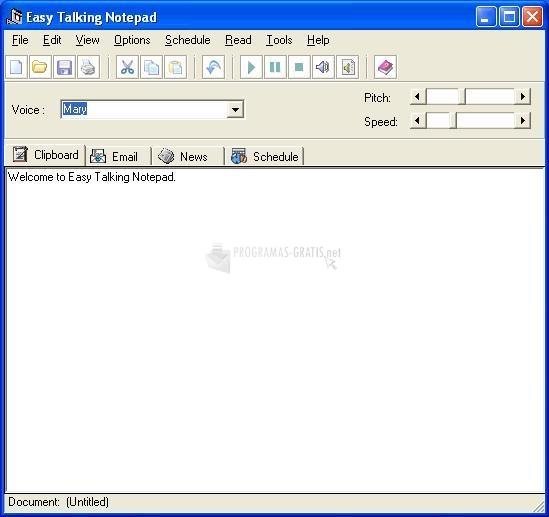 Pantallazo Easy Talking Notepad