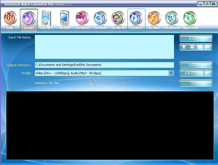 Pantallazo Intertech PSP Video Converter