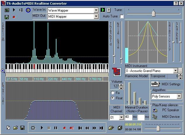 Pantallazo TS-AudioToMIDI