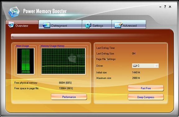 Pantallazo Power Memory Booster Free Version