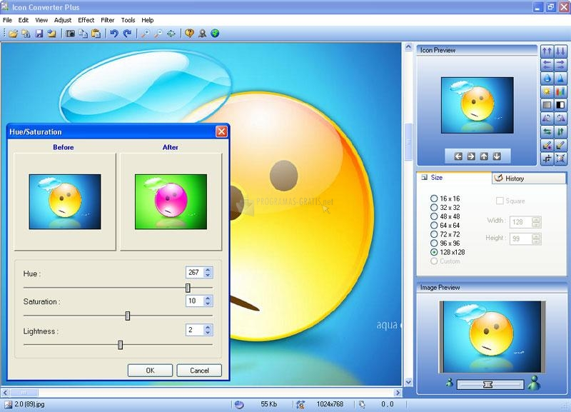 Pantallazo Icon Converter Plus