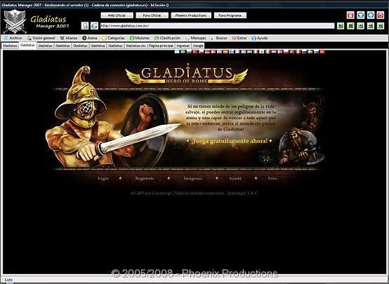 Pantallazo Gladiatus Manager