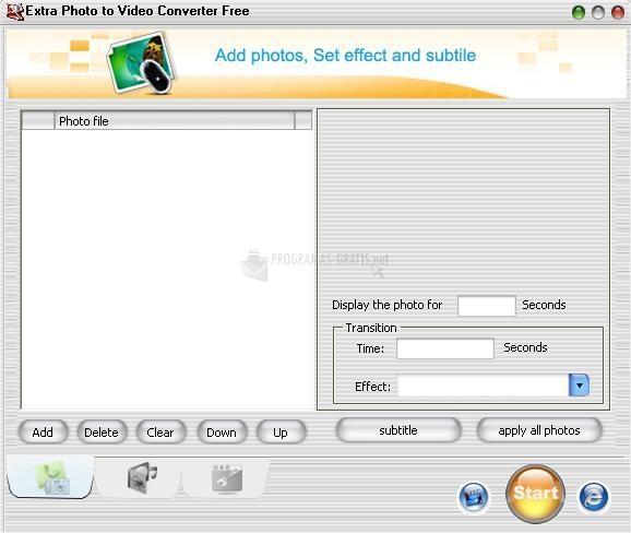 Pantallazo Extra Photo to Video Converter Free