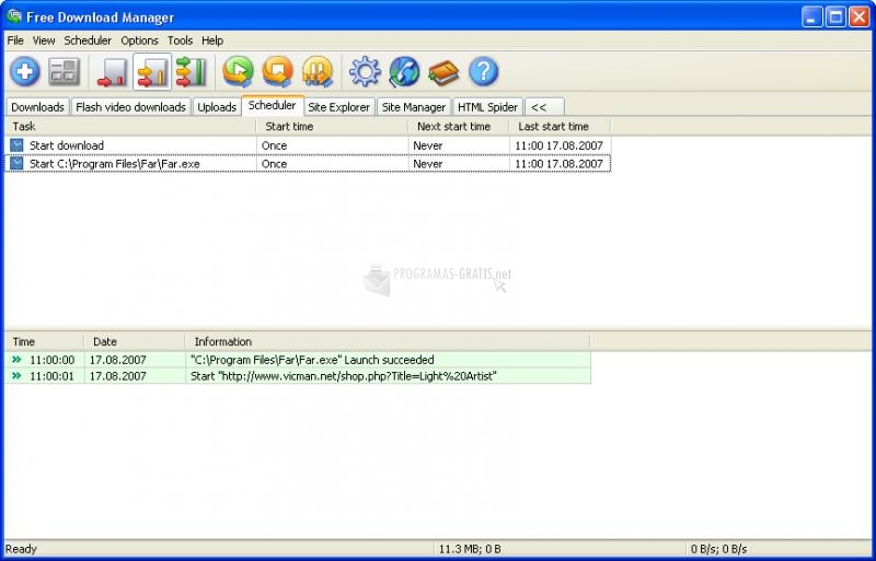 Screenshot Free Download Manager