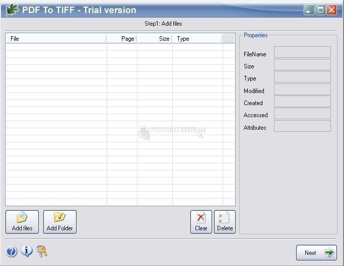 Pantallazo OakDoc PDF to TIFF Converter