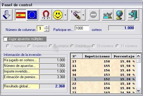 Pantallazo Loteria Primitiva SFINGE