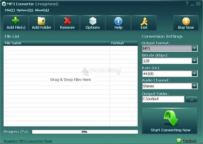 Pantallazo Reezaa MP3 Converter