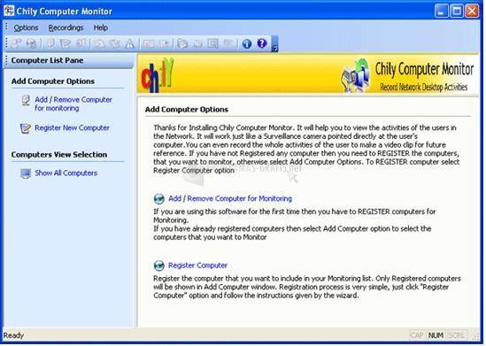 Pantallazo Chily Computer Monitoring Software