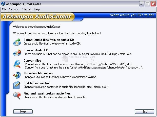 Pantallazo Ashampoo MP3 AudioCenter
