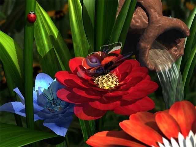 Pantallazo Garden Flowers 3D Screensaver