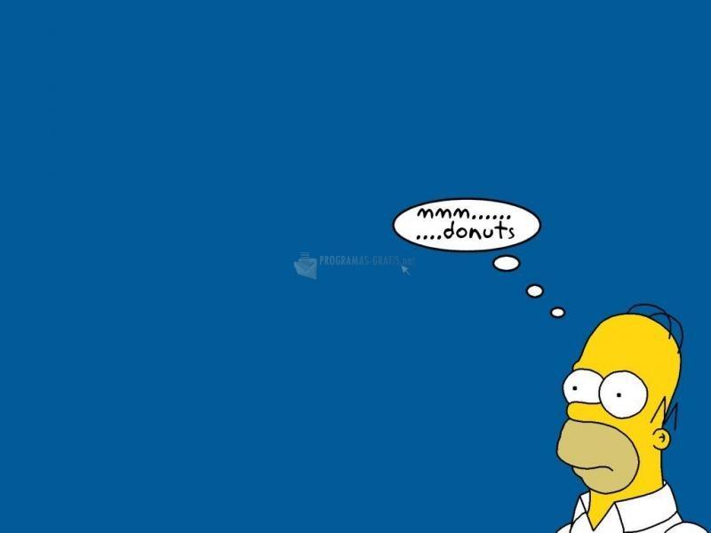 Pantallazo Homer pensativo