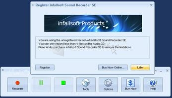 Pantallazo Infallsoft Sound Recorder SE