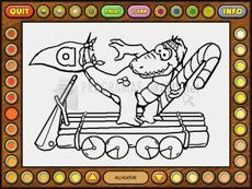 Captura Coloring Book 5: Alphabet Train