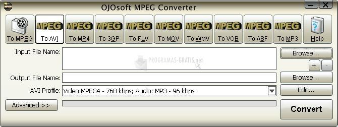 Pantallazo OJOsoft MPEG Converter