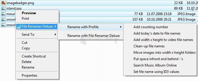 Pantalla File Renamer Deluxe