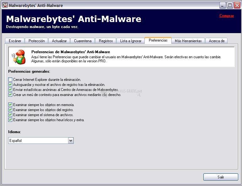 Screenshot Malwarebytes Anti-Malware