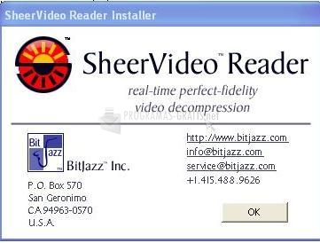 Pantallazo SheerVideo Reader