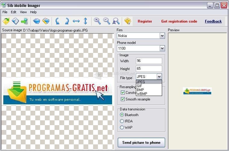 Pantallazo Sib Mobile Imager