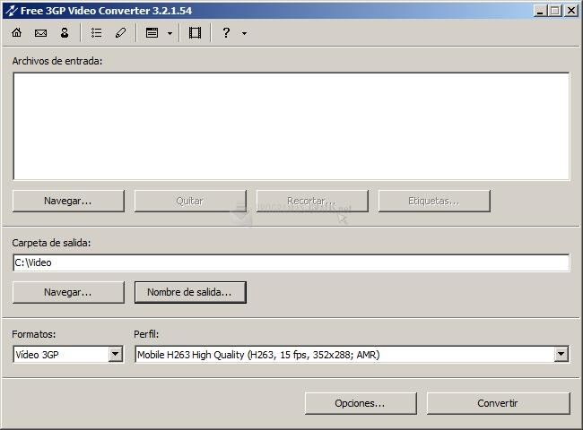Pantallazo Free 3GP Video Converter