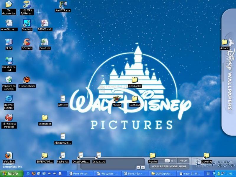 Pantallazo Disney Xtreme Desktop