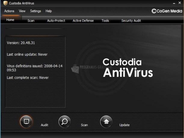 Pantallazo Custodia Antivirus