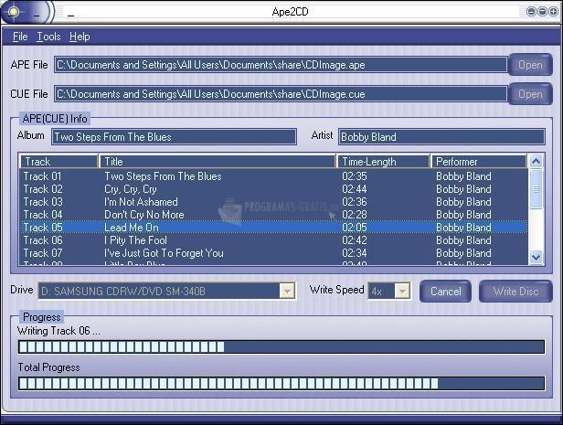 Pantallazo Ape2CD