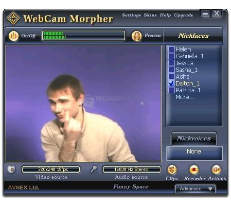 Pantallazo AV Webcam Morpher
