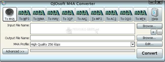 Pantallazo OJOSoft M4A Converter