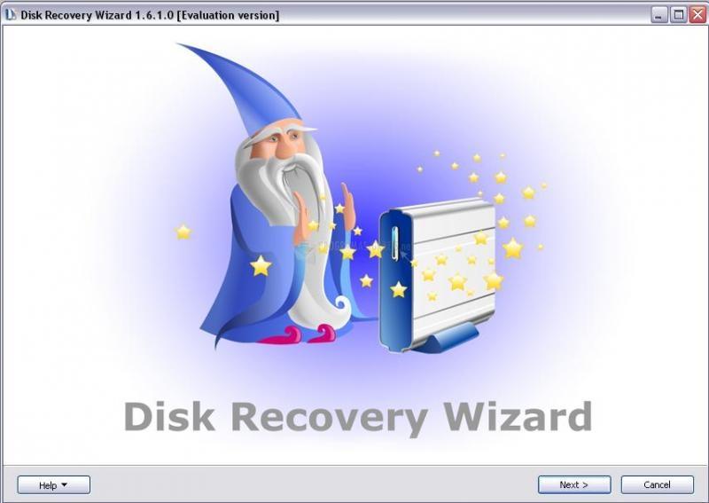 Pantallazo Disk Recovery Wizard